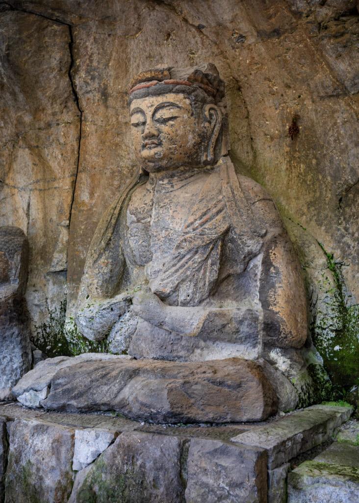 buddhism statue in usuki kyushu