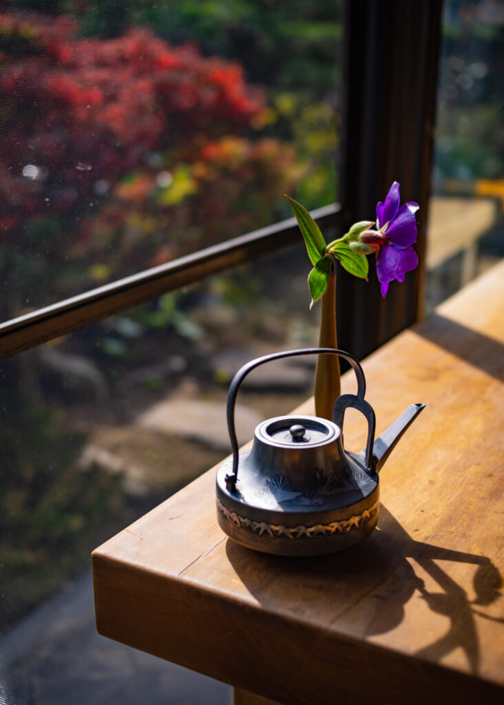 japanese tea pot in usuki, oita, kyushu