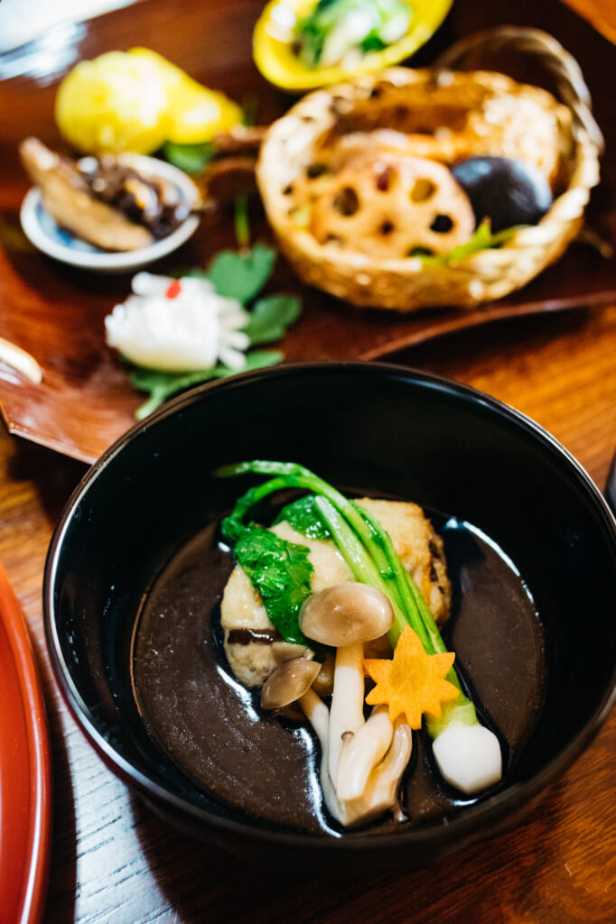 Buddhist vegan cuisine in usuki, oita, kyushu