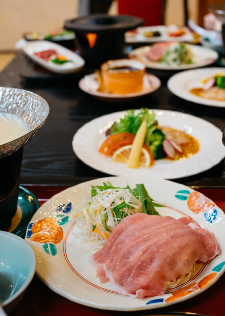 traditional japanese cuisine in usuki, kyushu