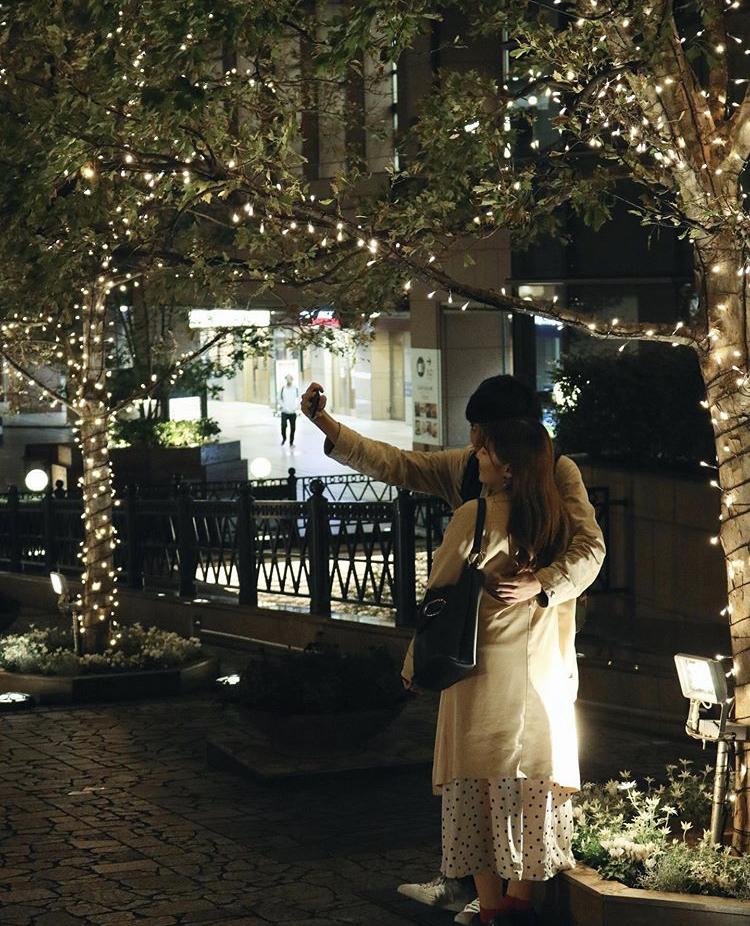Ebisu illumination during Christmas in Japan