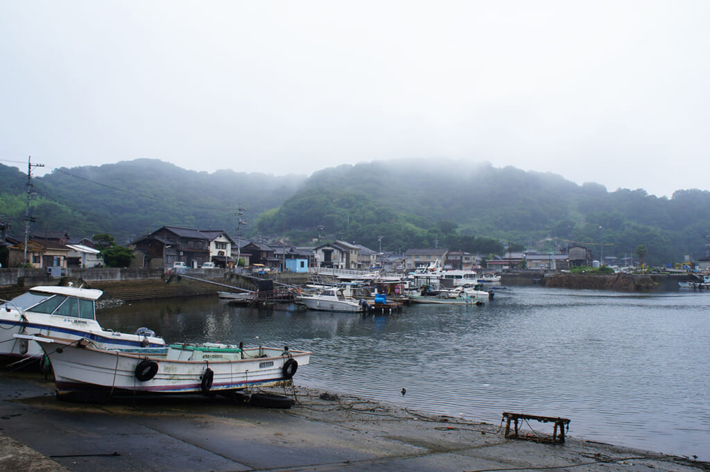 The harbour in Manabeshima