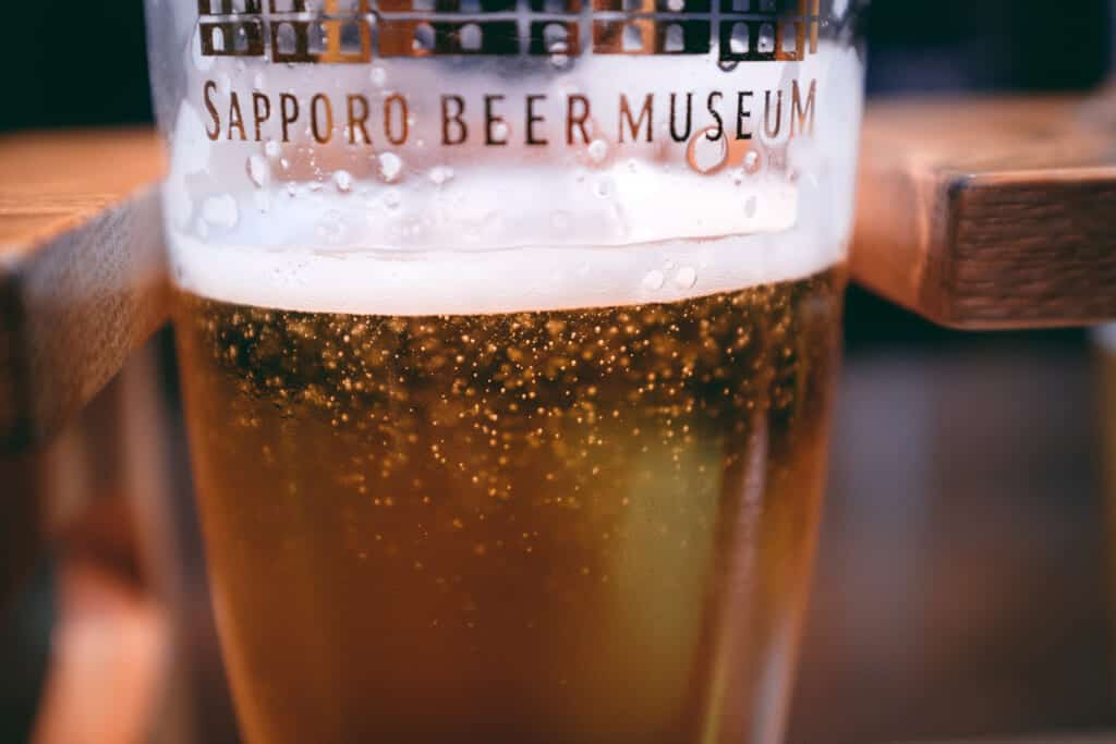 sapporo beer at the sapporo beer museum