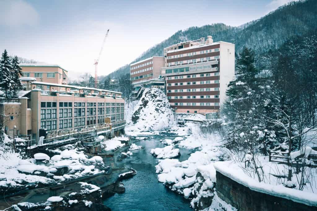 the hot spring village of Jozankei in Hokkaido