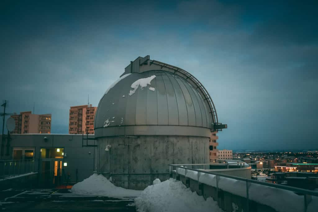 The observatory of Asahikawa, on the top of the Science Museum