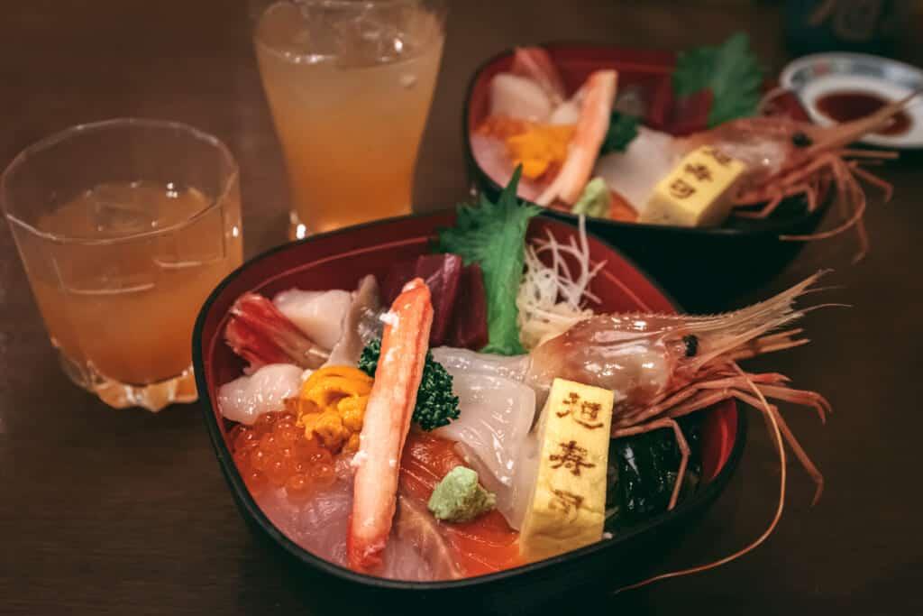 Hokkaido Chirashizushi, a perfect dinner on Christmas Eve