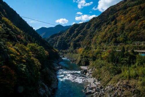Blue waters and nature at Iya Valley in Tokushima, Shikoku
