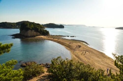 Japan beach on Shodoshima, Shikoku island