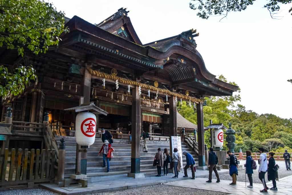 Konpira Shrine on Shikoku island