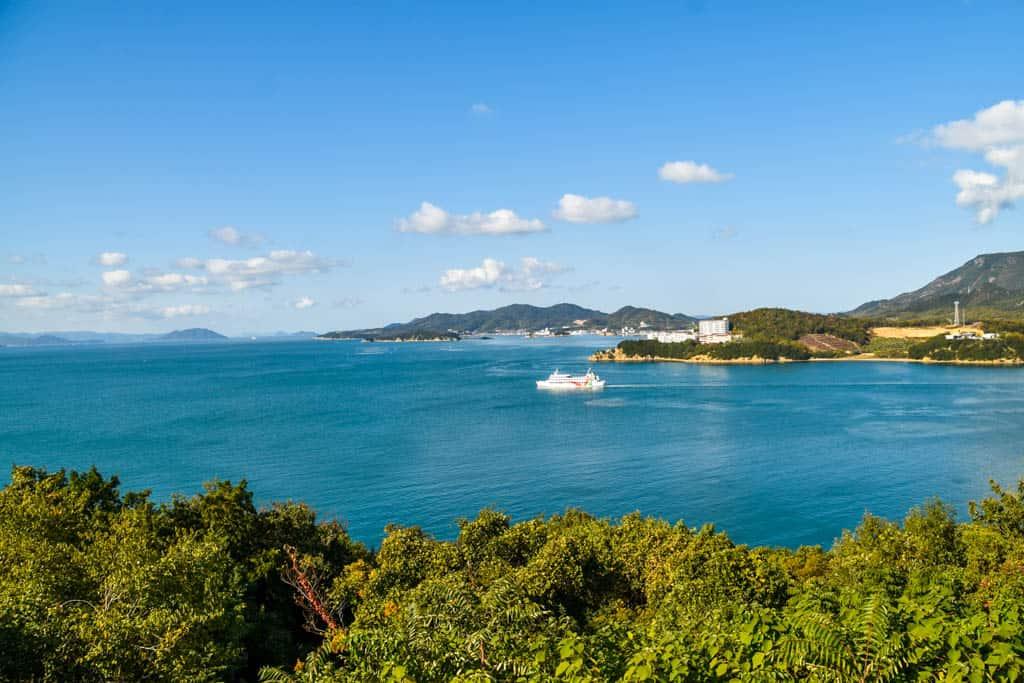ocean view of shikoku island, japan