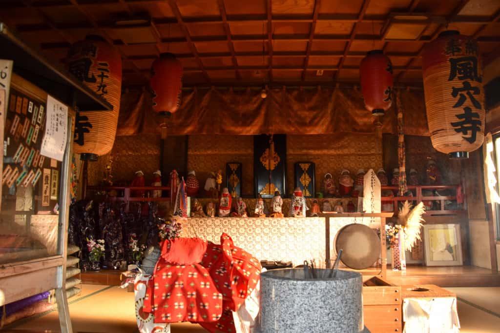 inside japanese shrine on  on Shodoshima, Shikoku island