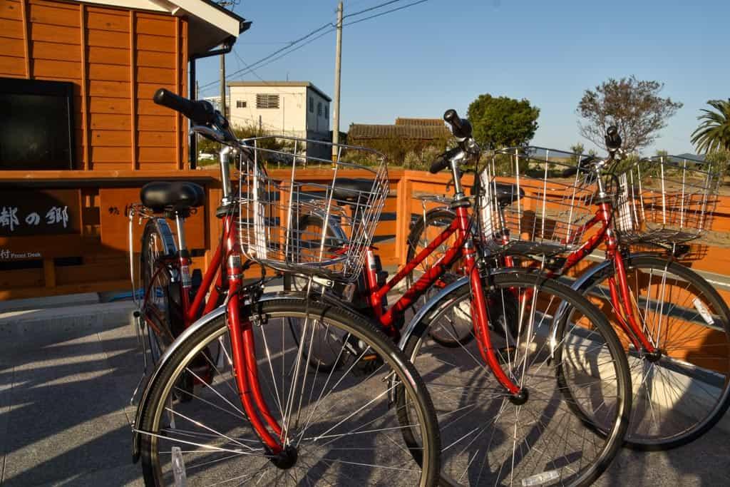 bikes on  on Shodoshima, Shikoku island