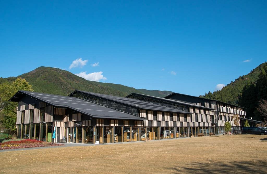Yururi architecture design by Kengo Kuma in Yusuhara Town, Shikoku.