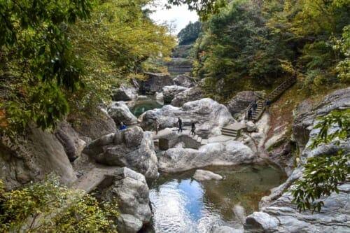 Nakatsu Gorge on Yusuhara Town, Shikoku