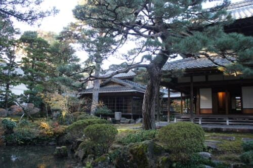 Nothern Culture Museum Japanese garden and buildings