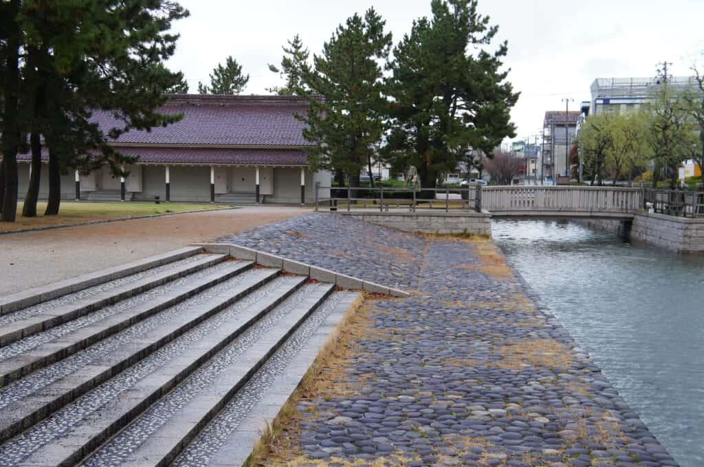 Niigata, Japan port district and architecture