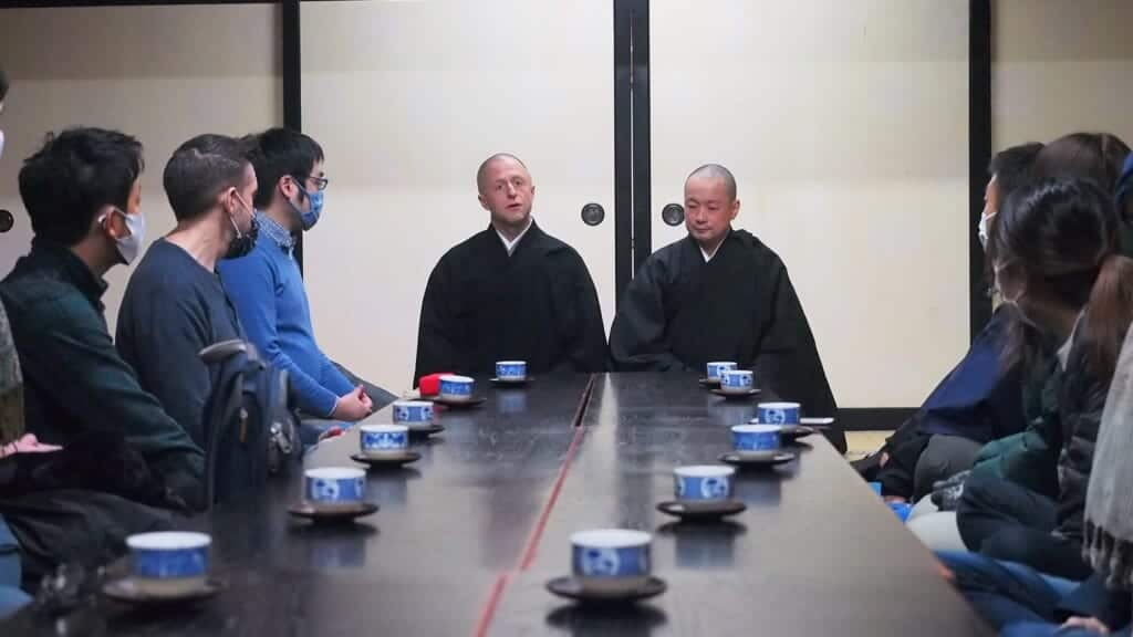 Daieiji Zen Buddhist monks talk about zazen in their temple