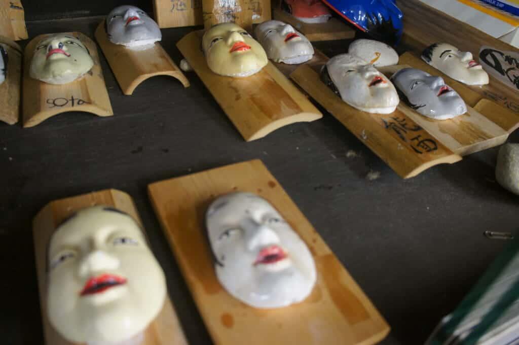 Sado Island Noh mask painting