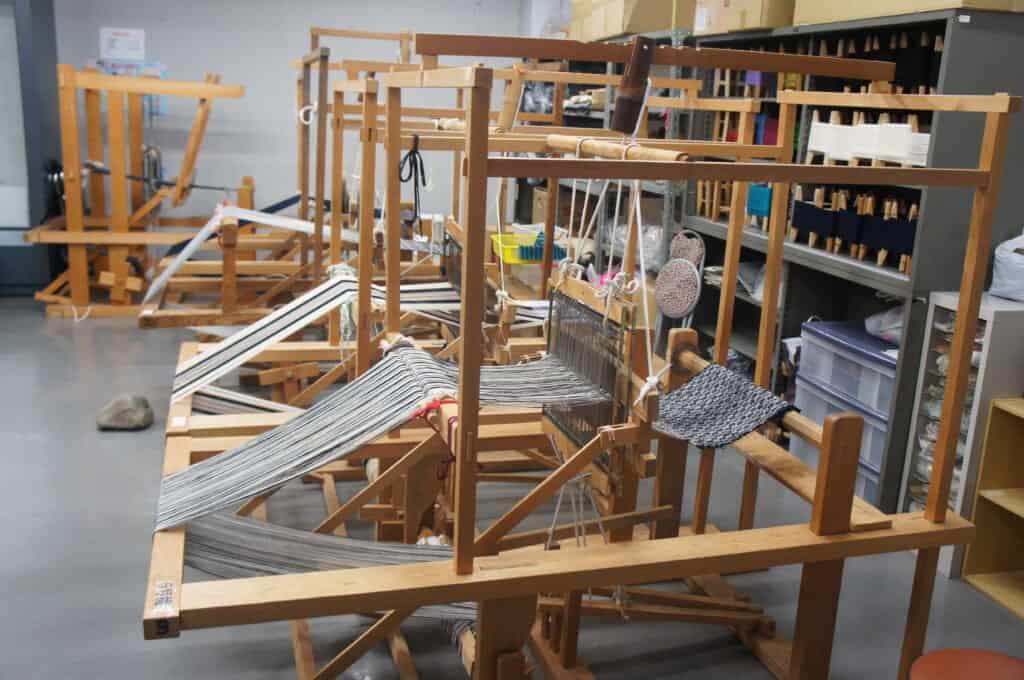 Sado Island traditional Japanese silk-making machines