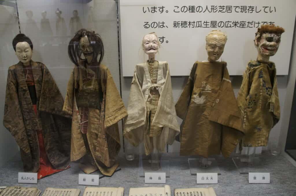 Sado Island Japanese dolls in a museum