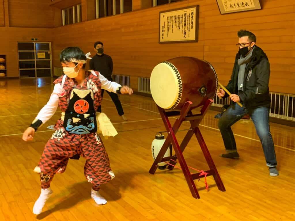 Sado Island traditional Japanese taiko and dance