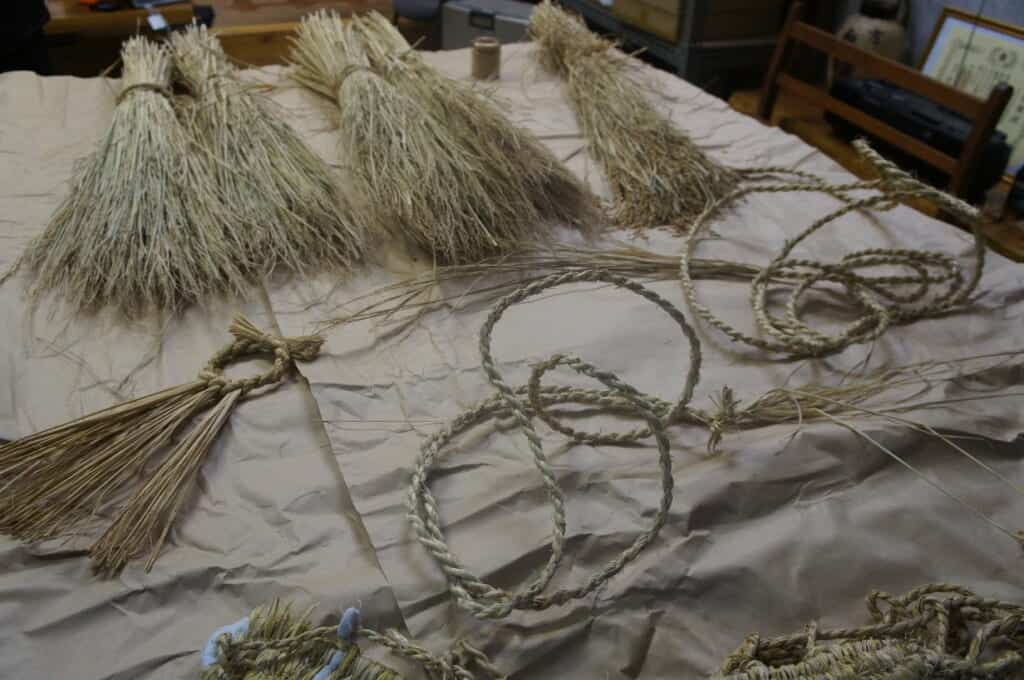 Japanese rice straw used for traditional arts and crafts