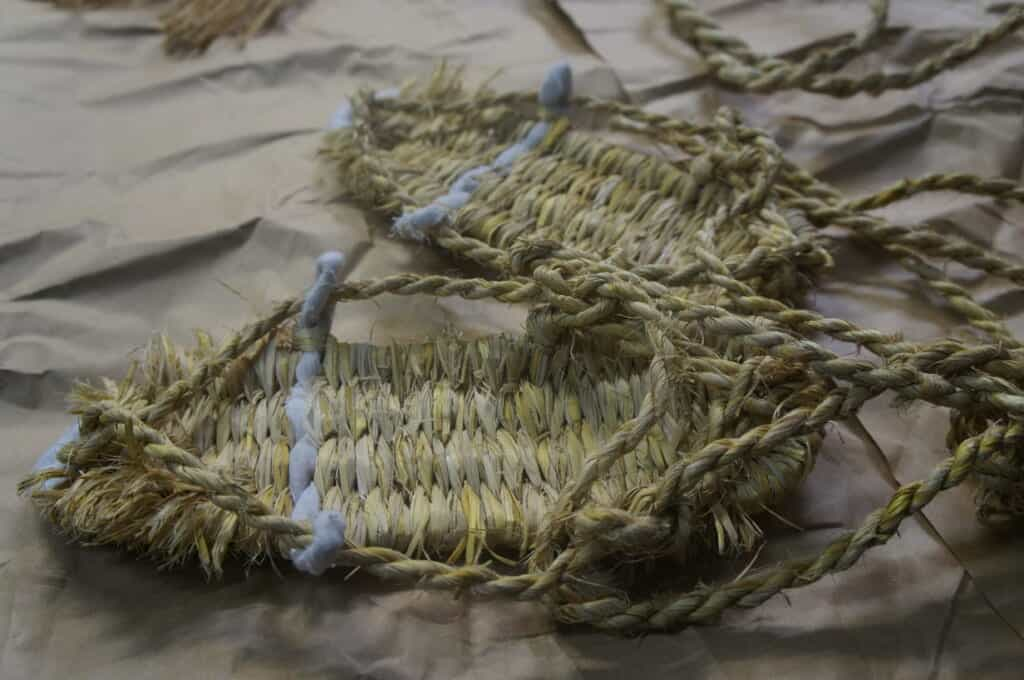 Traditional Japanese rice straw sandals