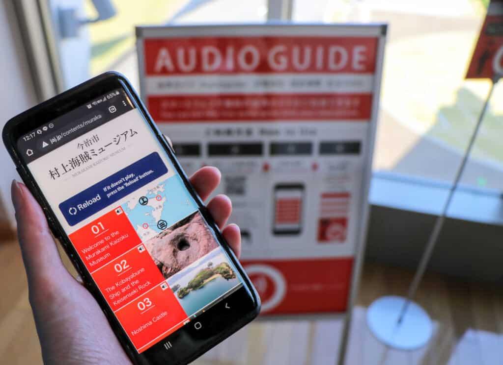 Audio Guide at Murakami Suigun Museum