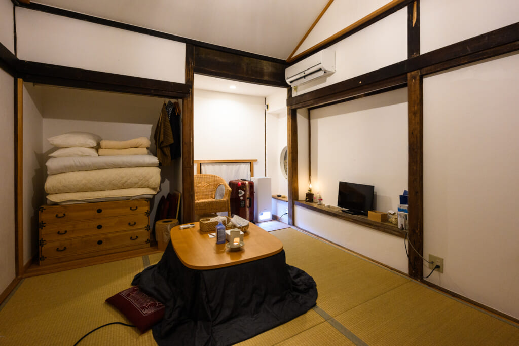 japanese style bedroom with tatami mat on goto islands