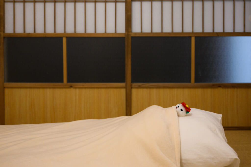 japanese futon with doll
