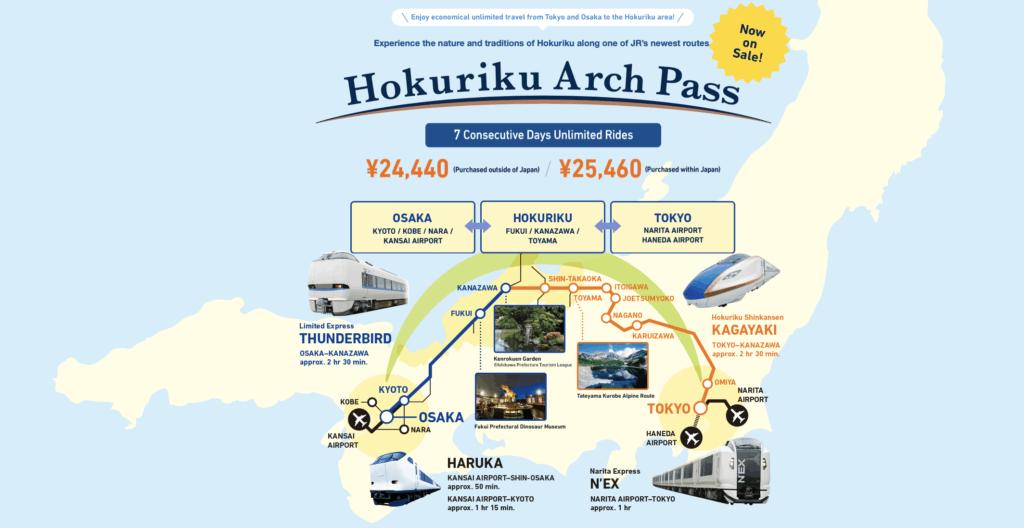 Hokuriku arch pass information