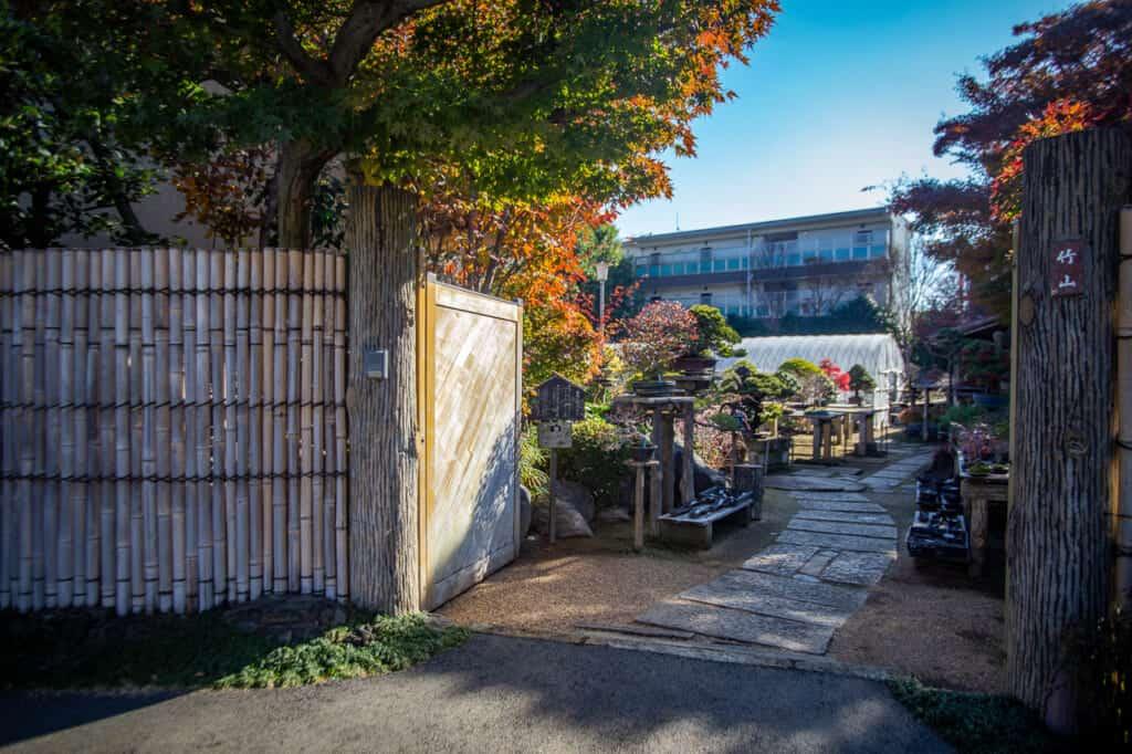A Bonsai garden's entrance at Omiya Bonsai Village