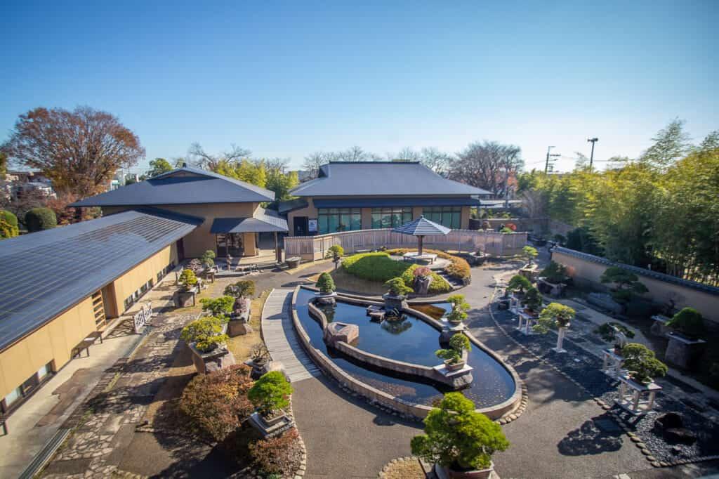 General view of Omiya Bonsai Art Museum in Saitama, Japan