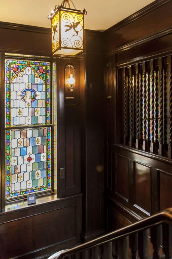 Stained glass windows in Oyamazaki villa