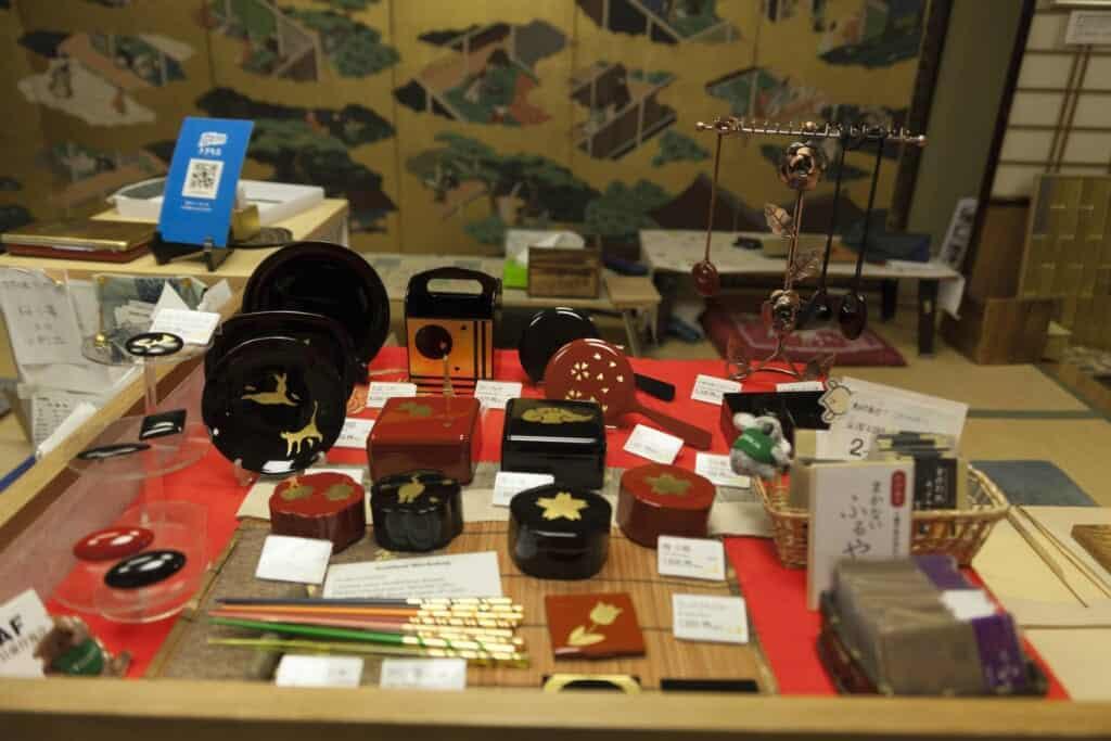 selection of goods for gold leaf workshop