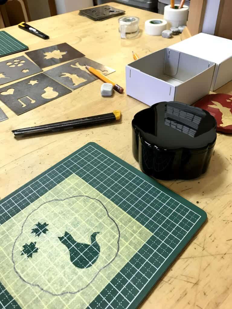 gold leaf workshop stencil