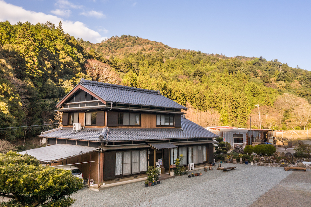 Traditional Japanese style guest house in the countryside