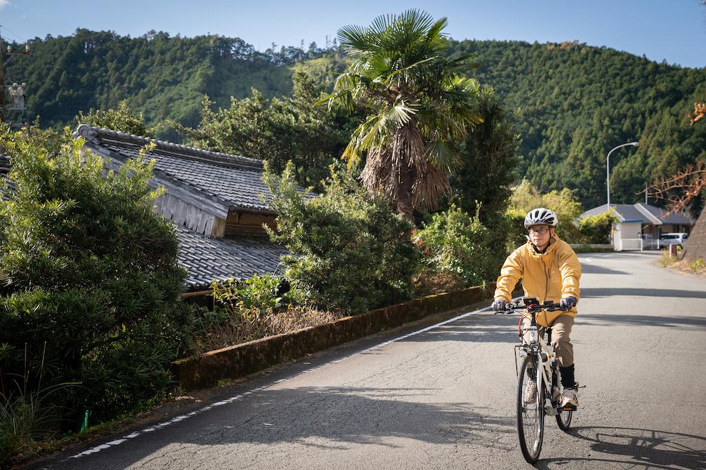 Cycling in the mountain suburbs of Kumano Kodo