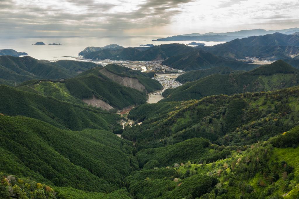 View of inlet on Kii Peninsula from trail of Kumano Kodo