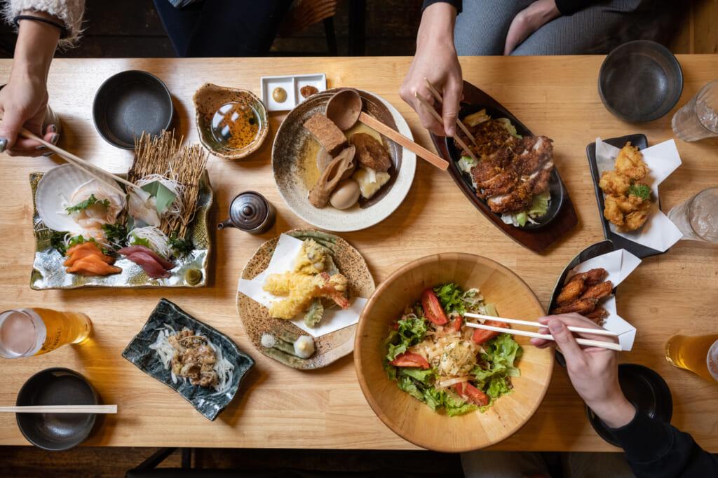 izakaya style Meal in Niseko, Hokkaido