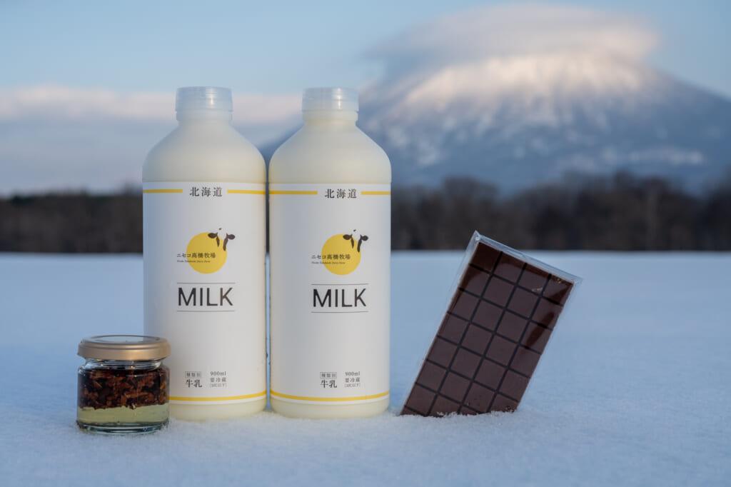 Takahashi Farm Milk near Niseko in Hokkaido
