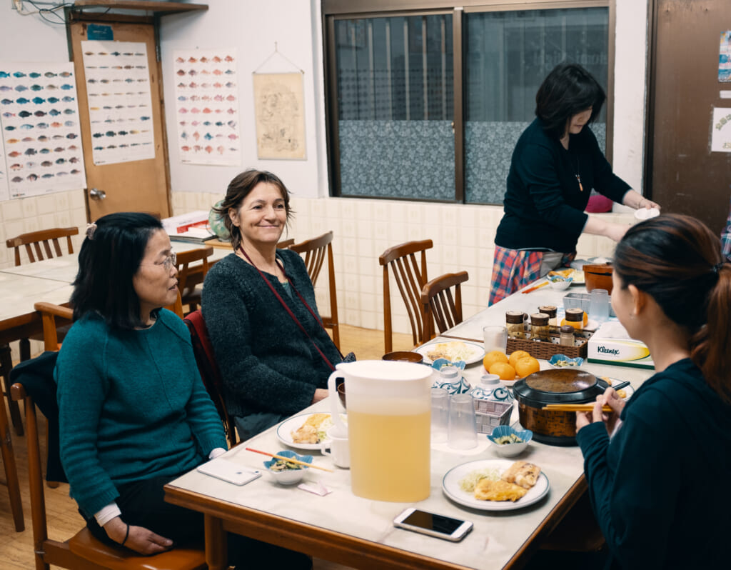 The New Year with the Japanese of a guest house of okinawa
