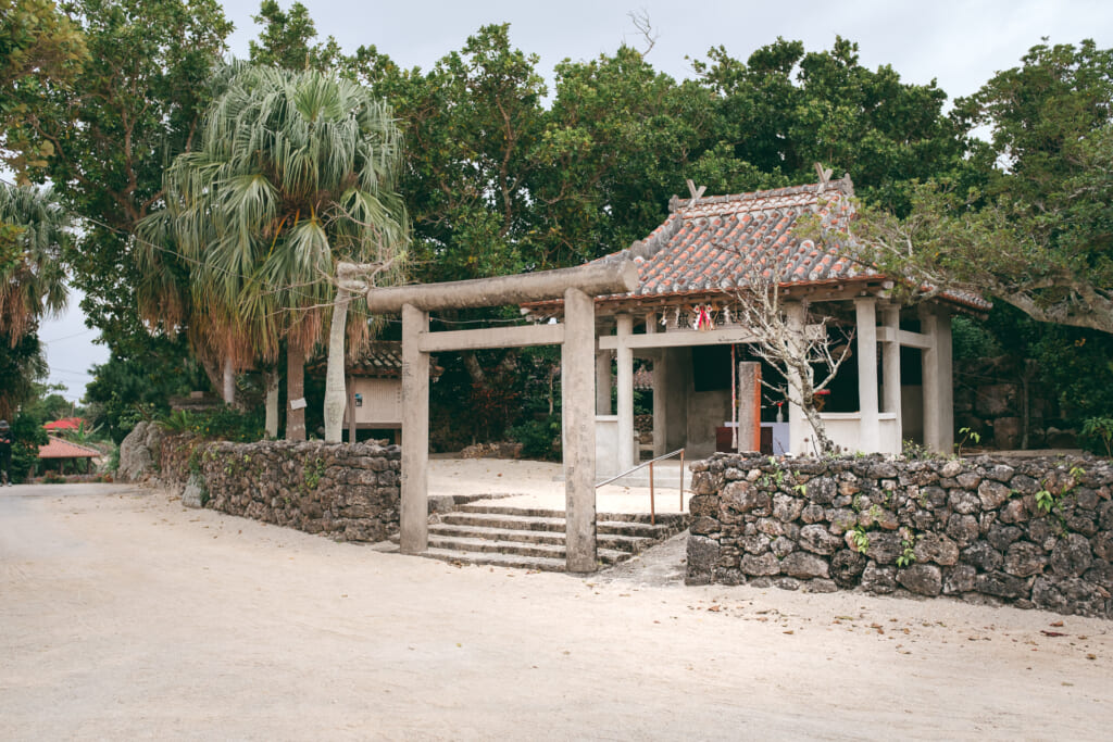 a traditional Japanese shrine of taketomi island, okinawa
