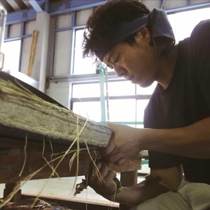 Kuboki Tatami crafts person making unique Japanese tatami items