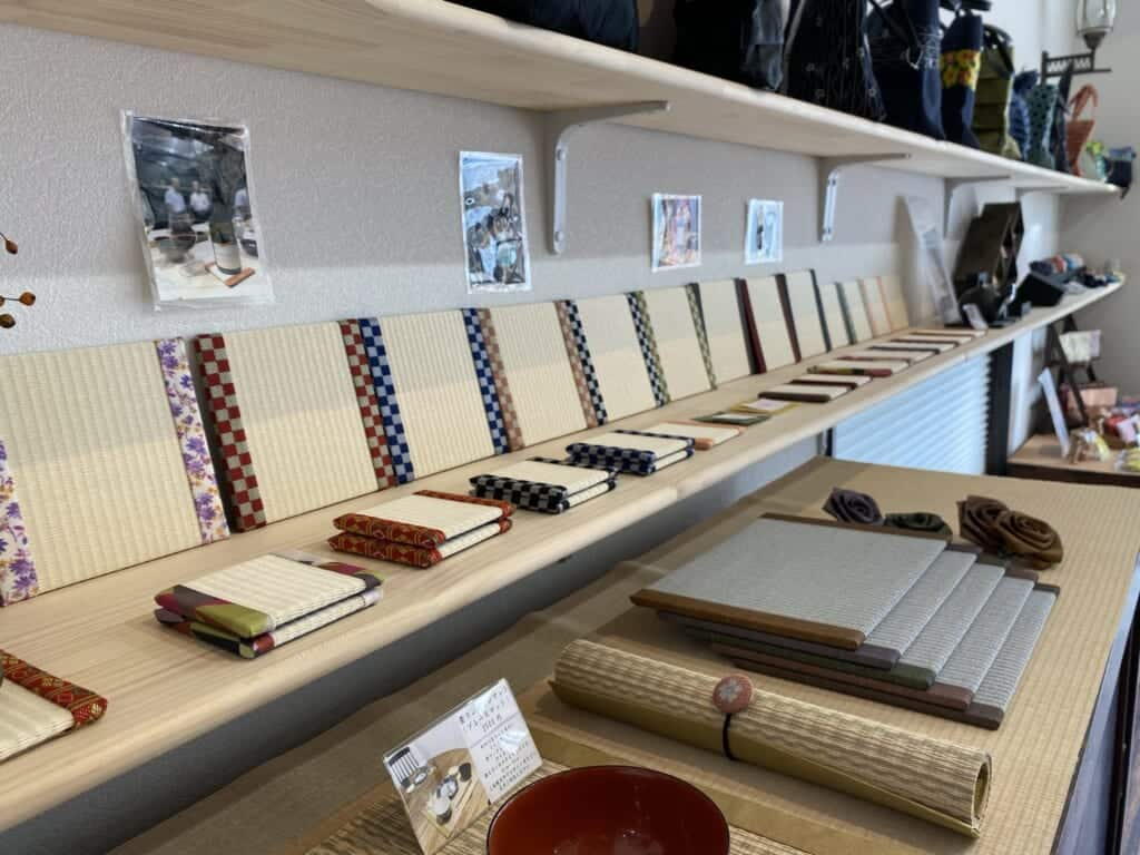 Kuboki tatami items in shop in Japan