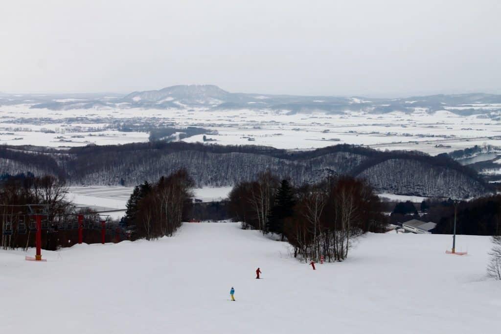 Snowy Ski Trail in Niseko, Hokkaido