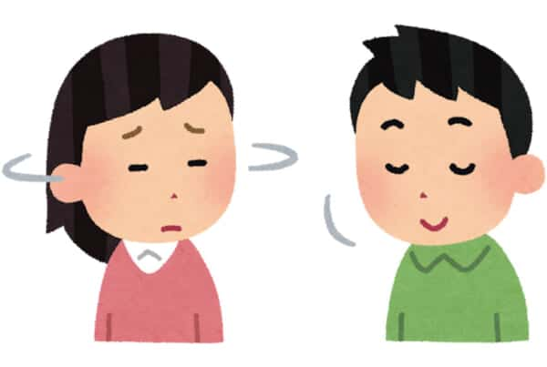 illustration saying yes and no in Japanese