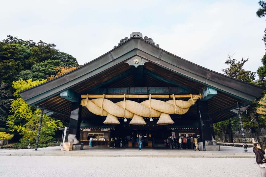 Izumo Shrine and its famous shimenawa