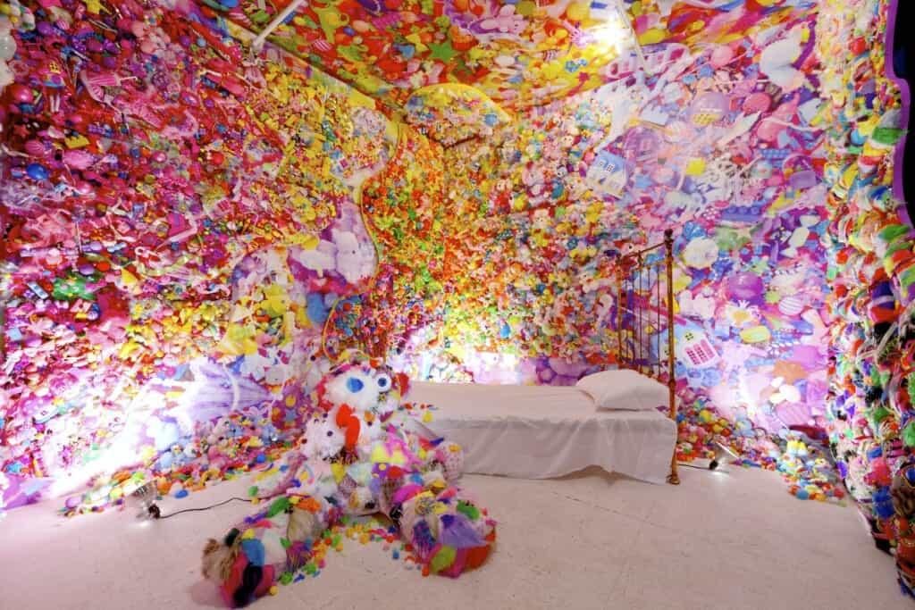 Colorful rebellion art installation