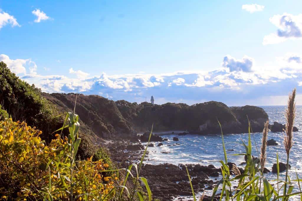 Japanese lighthouse at Cape Shionomisaki